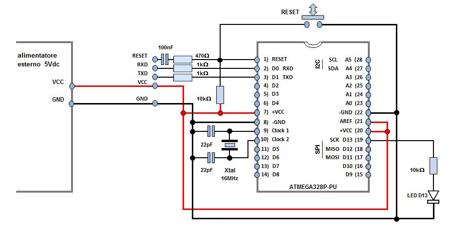 N 1 kit componenti per modulo standalone con atmega328p pu for Kit da garage stand alone